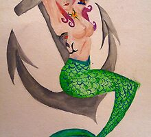 Mermaid Pin Up by Brittany Ketcham