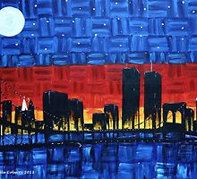 Remembering 9/11-Sunrise through the City by Dee Colucci