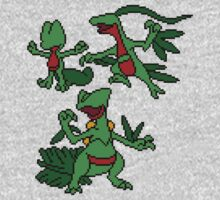 Treecko, Grovyle and Sceptile Kids Clothes