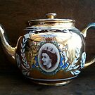 Gold Luster Queen Elizabeth Tea Pot - Still Life by 082010