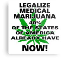 Legalize Medical Marijuana NOW! Metal Print