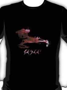 Klingon Battlecruiser Paint Splatter T-Shirt