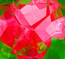Pink Roses in Anzures 2 Abstract Polygons 1 by Christopher Johnson