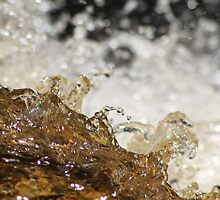 Water. Cascades of melt water sparkling in the sun. Spring time. by UpNorthPhoto