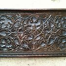Antique Wood Vine Tray - Still Life by 082010