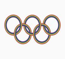 Rainbow Olympic Rings by rachsymonds