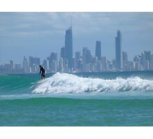 Surfer in front of Surfers Photographic Print