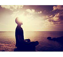 Sunset Meditation in Purple Photographic Print
