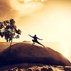 Sunset Tai Chi in Yellow by visualspectrum