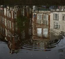 Raindrops, Ripples and Fabulous Reflections of Amsterdam Canal Houses by Georgia Mizuleva