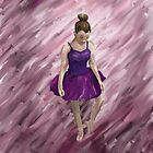 Ballet Dancer In Purple (Ipad Case) by Katy177