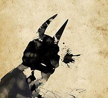 Paint Splatter Superheros: Batman by Arian Noveir