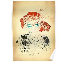 Paint Splatter Superheros: Black Widow Poster