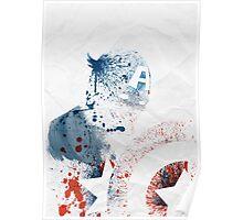 Paint Splatter Superheros: Captain America Poster