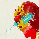 Paint Splatter Superheros: Iron Man by Arian Noveir
