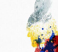Paint Splatter Superheros: Thor by Arian Noveir
