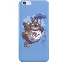 Totoro in Flight iPhone Case/Skin