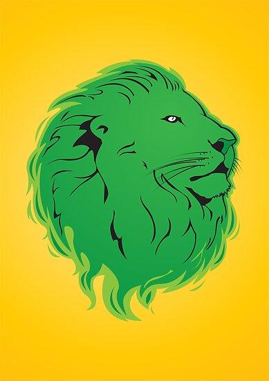 Green Lion by MrAparagi