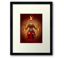 Princess Pyromancer Framed Print