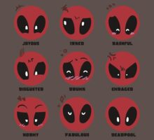 Deadpool Deadpool Deadpool (Black Font) by Skitty Vasquez