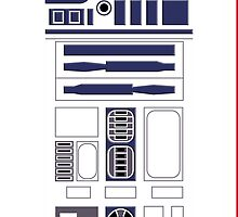 R2D2 Artoodetoo Starwars Robot  by casecute