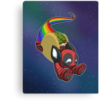 Nyan Deadpool Taco Cat Canvas Print