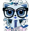 Nice Kitty - White & Blue by Adamzworld