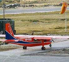 FIGAS BN-2B Islander VP-FBG at Stanley by Colin Smedley