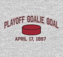 Playoff Goalie Goal by LicensedThreads