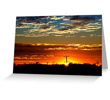 Sunrise Over The 'burbs Greeting Card
