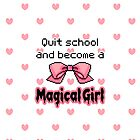 kawaii quit school become a magical girl melty text by hellohappy