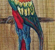 Scarlet Macaw by EloiseArt