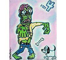 My Pet Zombie #4 - Here Boy Photographic Print