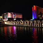 Las Vagas at night by Elinor Barnes