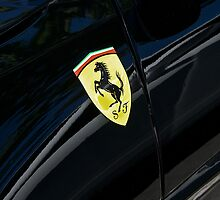 Ferrari Shield on Black by DaveKoontz