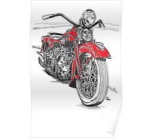 Harley red Poster