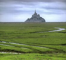 Mont Saint Michel -----The Flats (2) by Larry Lingard-Davis