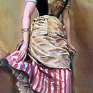 Portrait of Aline Masson Leaning on a Sofa after Garreta Raimond by Hidemi Tada