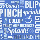 Kitchen measures typography - blue by digestmag