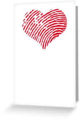 Red Heart Fingerprint by GenerationShirt