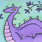 Pretty Purple Dragon with Pink Spikes  by zoel
