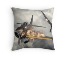 Watch your six! Throw Pillow