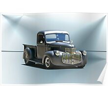 1942 Chevy Pick-Up 'Black Satin' Poster