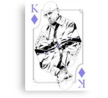 King of Blue Diamonds Canvas Print