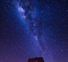 Milky way over Rainbow Valley - Central Australia by Mark Shean