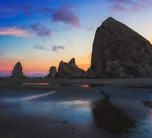 Cannon Beach Seastacks by Carrie Cole