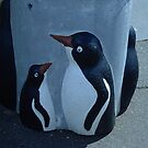 Penguin Rubbish Bin by Penny Smith