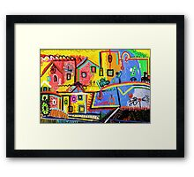 Beautiful scenery small town Framed Print