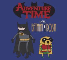 Adventure Time with Batman & Robin by zblues