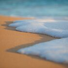 Sea Foam Over Hawaiian Sand by printscapes